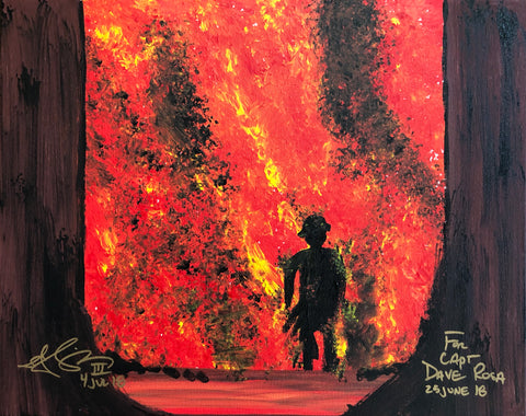 The Forest Fire Painting, A Bands For Arms Artwork Piece