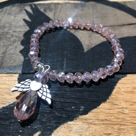 The Pink Ribbon Angel Bracelet