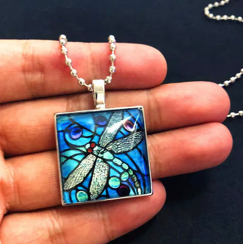 The Painted Dragonfly Necklace