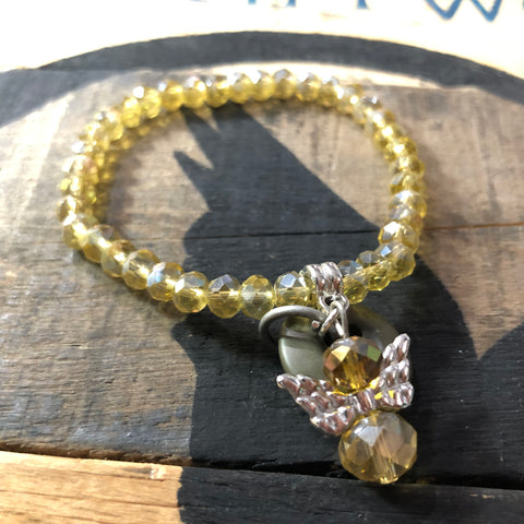The Yellow Ribbon Military Protection Angel Bracelet