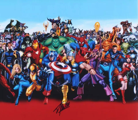 The Stan Lee Autographed Characters Photo