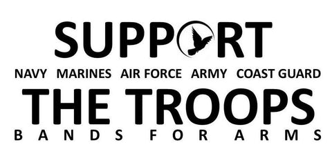 Support Our Troops Decal, 3.18 Inch X 8 Inch