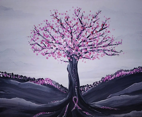 The Tree of Survival Painting, A Bands For Arms Artwork Piece