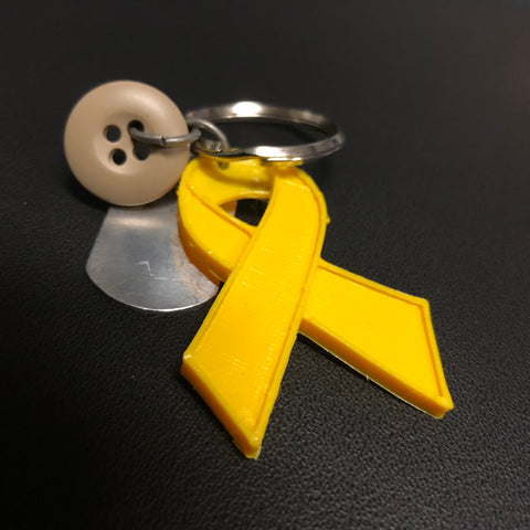 The Support Our Troops Ribbon Keychain