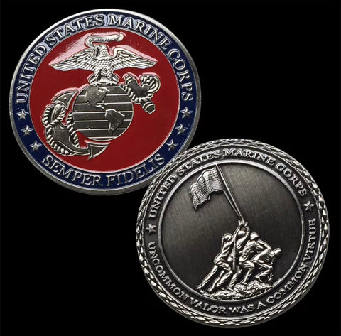 The 75th Anniversary Iwo Jima Marine Corps Challenge Coin