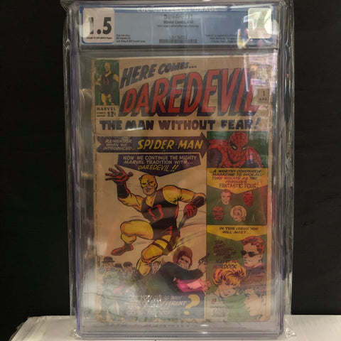 The CGC Graded 1.5 Daredevil #1