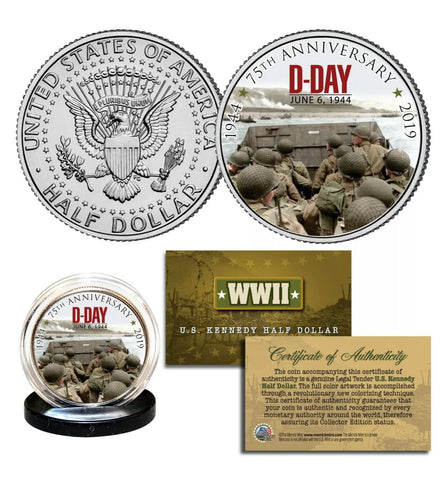 The 75th Anniversary D Day Half Dollar Coin