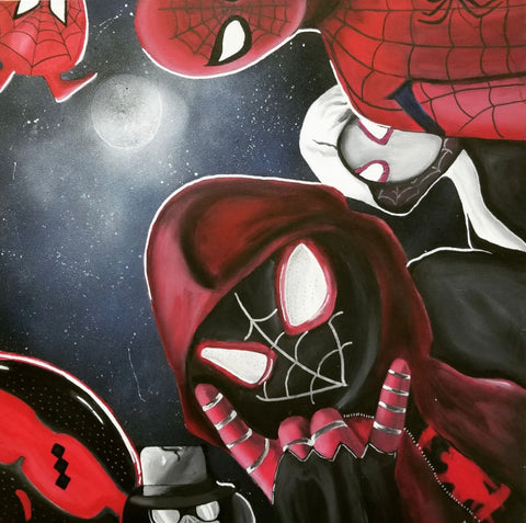 The Spiderverse Painting, A Bands For Arms Artwork Piece