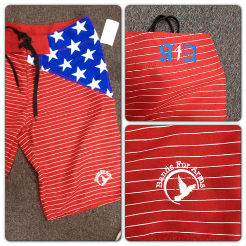 The All American Bands For Arms Boardshorts, A Limited Edition