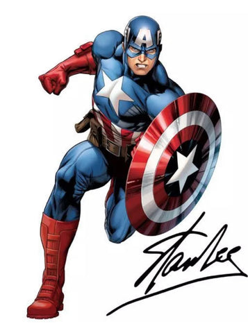 The Stan Lee Autographed Captain America