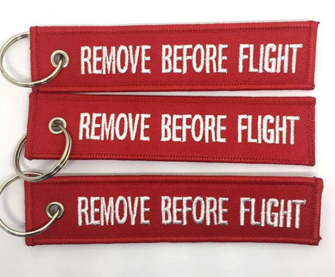 The Remove Before Flight Keychain