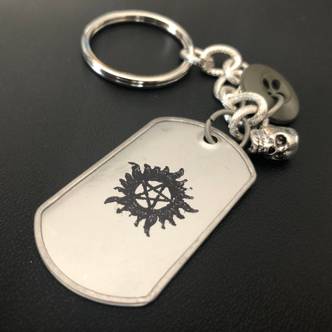 The Supernatural Dog Tag Keychain