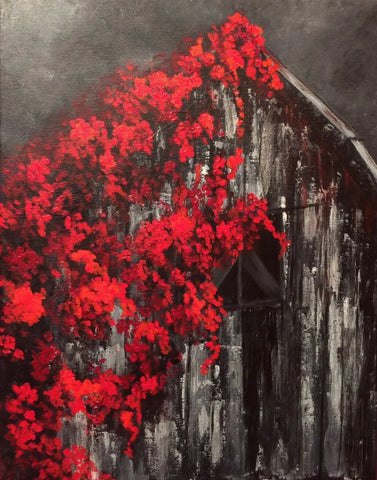 The Country Barn's Bloom Painting, A Bands For Arms Artwork Piece
