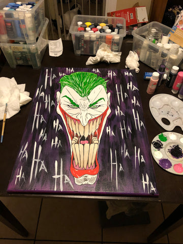 The Mad Joker Painting, A Bands For Arms Artwork Piece
