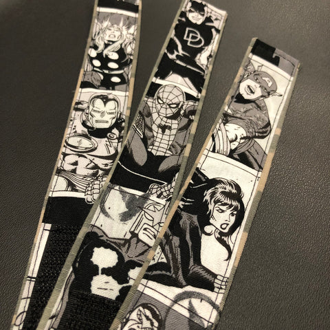 The Classic B&W Marvel Bracelets