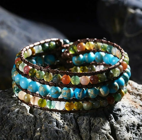 The Earth Stone Wrap Bracelet