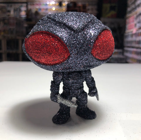 The Custom Diamondnized Black Manta Pop