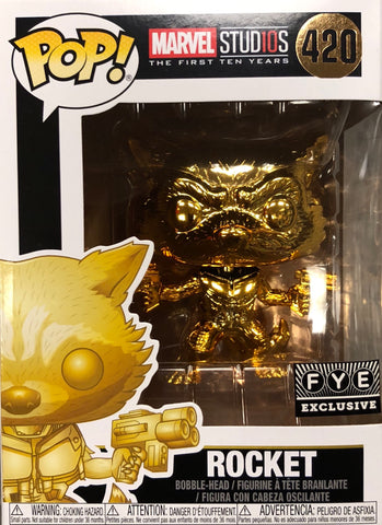 The Autographed Gold Rocket Funko Pop