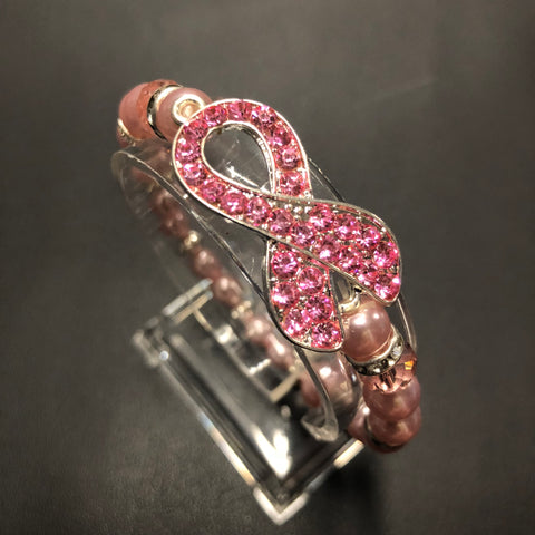 The Dazzled Pink Ribbon Bracelet