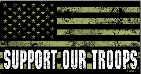 The Green Support Our Troops Decal