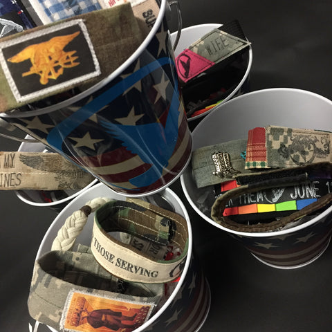 ***************************************************************************************************************************************************************The 4th of July Pail Bracelet Set