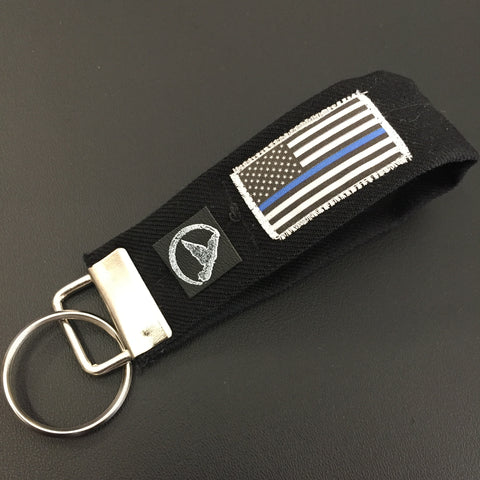 The Thin Blue Line Keychain
