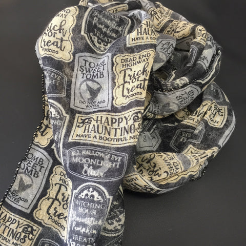 **********************************************************************************************************************************************The Bands For Arms Haunted Tombstone Scarf