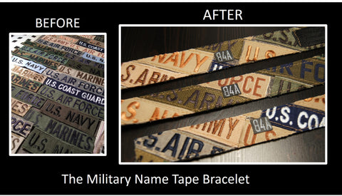 ***************The Military Name Tape Bracelet, A Limited Edition
