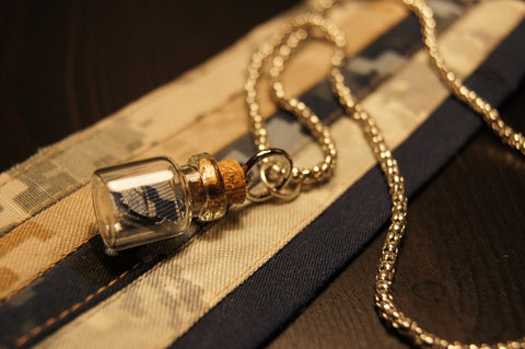 The Service Member in a Bottle Necklace