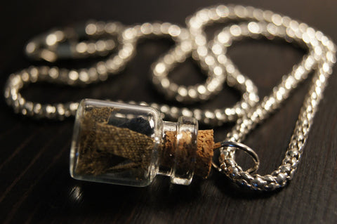 The WWII in a Bottle Necklace
