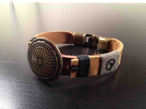 *The Cleveland Bracelet, Made With WWII Army Uniforms