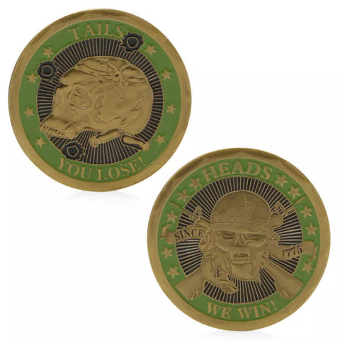 **********************************************************************************************************************************************The Heads & Tails Challenge Coin