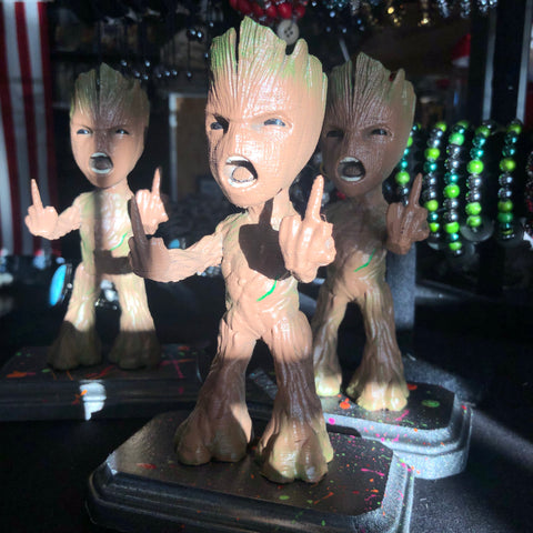 The Bad Baby Groot 3D printed Figure