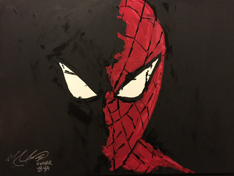 The Spider Shadowed Painting, A Bands For Arms Artwork Piece
