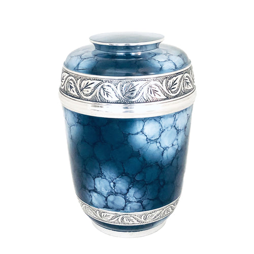 Blue Fire Adult Urn