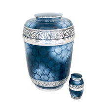 Load image into Gallery viewer, Blue Fire Cremation Keepsake Urn