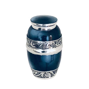Blue Fire Cremation Keepsake Urn