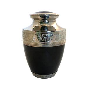 Black Enameled Cremation Urn
