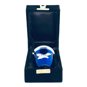 Royal Blue Birds Flying Cremation Keepsake Urn