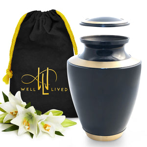 Navy Blue Cremation Urn