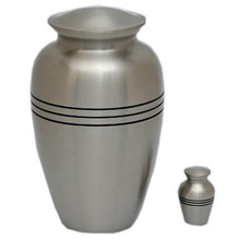 Load image into Gallery viewer, Mat Silver Keepsake Cremation Urn