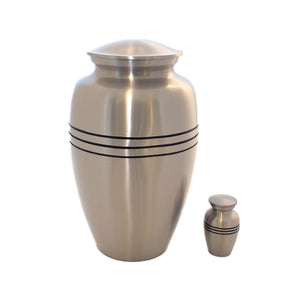 Mat Silver Keepsake Cremation Urn (set of 4 pcs)