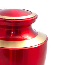 Load image into Gallery viewer, Red Glossy Cremation Urn