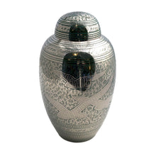 Load image into Gallery viewer, Green Engraved Birds Cremation Urn