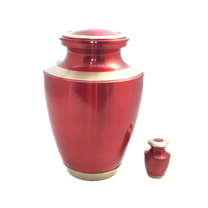 Red Gloss Keepsake Urn (set of 4)