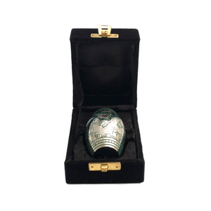 Green Engraved Birds Keepsake Cremation Urn