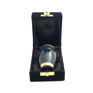 Navy Blue Keepsake Cremation Urn