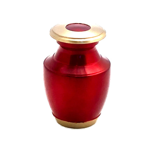 Red Glossy Keepsake Cremation Urn