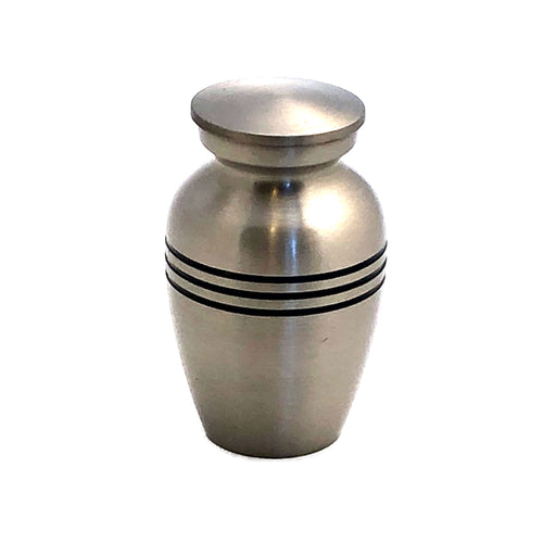 Mat Silver Keepsake Cremation Urn