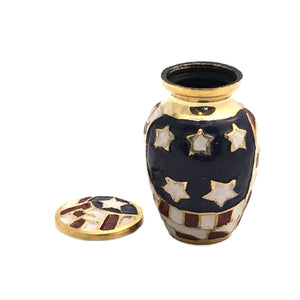 American Flag Cremation Keepsake Urn